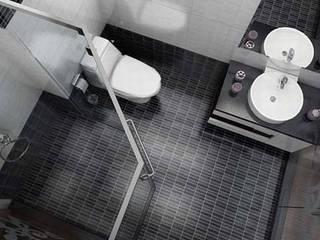 Phòng tắm với nội thất đơn giản sang trọng:  Phòng tắm by Công ty TNHH Thiết Kế Xây Dựng Song Phát