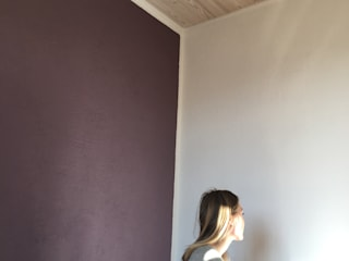 aplat de couleur pour un mur chaleureux Chambre classique par Bleu d'avril Classique