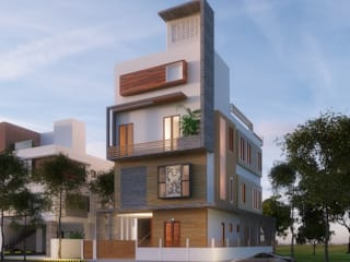 Elevation:  Houses by Geometrixs Architects & Engineers
