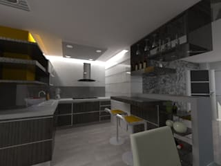 Diseño Interior vivienda:  de estilo  por MAHO arquitectura y diseño, C.A