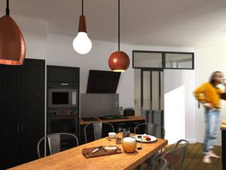 Aménagement d'un appartement pour une petite famille à Montpellier par CS Architecture d'intérieur