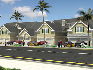 Exterior Architectural Rendering:  Clinics by 3D Rendering India, Modern