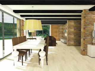 Construcción de chalet y decoración de interiores en Crevillente (Alicante) Comedores de estilo rústico de Asun Montoya Estudio Interiorismo Rústico