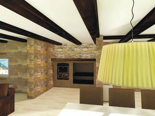 Construcción de chalet y decoración de interiores en Crevillente (Alicante) Bodegas de estilo rústico de Asun Montoya Estudio Interiorismo Rústico