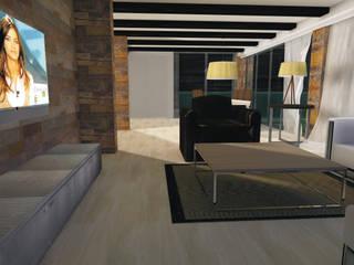 Construcción de chalet y decoración de interiores en Crevillente (Alicante) Salones rústicos de estilo rústico de Asun Montoya Estudio Interiorismo Rústico