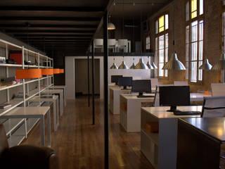 LoftCowork Can Felipa: Oficinas y Tiendas de estilo  de ESTUDIO DE CREACIÓN JOSEP CANO, S.L.,