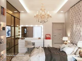 Dormitorios de estilo moderno de Kathiane Guimarães Arquitetura e Interiores Moderno