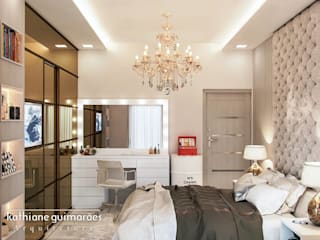 Modern Yatak Odası Kathiane Guimarães Arquitetura e Interiores Modern