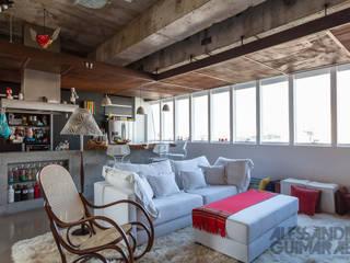 Ruang Keluarga oleh Nautilo Arquitetura & Gerenciamento, Industrial Besi/Baja