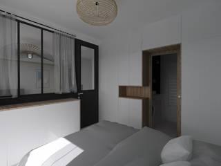 Appartement 40m² - Rue Mozart: Chambre de style  par SAS Alexandre TRIPIER