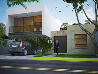 FACHADA: Casas unifamiliares de estilo  por MAPER proyecto y construcción