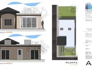 Alzados y Planta conjunto:  de estilo  por Aval Proyectos