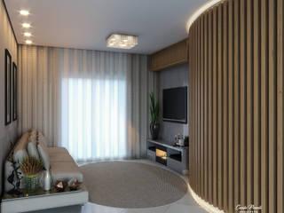 من Camila Pimenta | Arquitetura + Interiores حداثي
