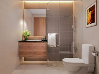 Công ty TNHH TK XD Song Phát Asian style bathroom Copper/Bronze/Brass White