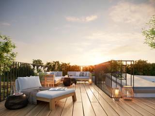 Terrazza in stile  di JLL Residential Development