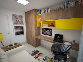 Apartamento Noroeste Escritórios modernos por Ju Lima Arquitetura e Interiores Moderno