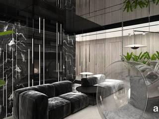 ARTDESIGN architektura wnętrz Pasillos, vestíbulos y escaleras de estilo moderno