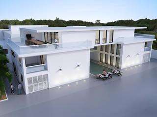 VILLA EN APPARTEMENTENGEBOUW, PARAMARIBO van Architectenburo de Vries en Theunissen