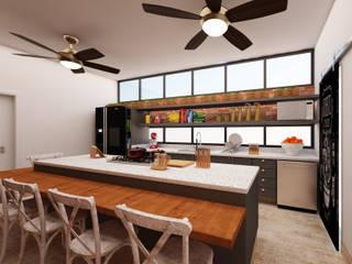Cozinha Gourmet: Cozinhas  por AM arquitetura e interiores