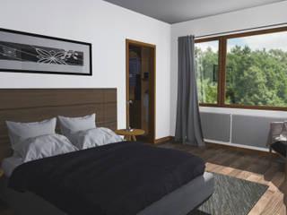 Minimalist bedroom by Pro Aus Arquitectos Minimalist