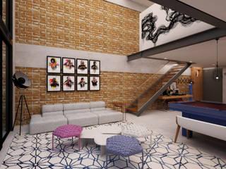 Sala de estar: Salas de estar  por AM arquitetura e interiores