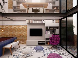 Home Theater: Salas de estar  por AM arquitetura e interiores