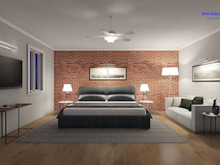 Bedroom in Loft style Minimalist bedroom by 'Design studio S-8' Minimalist