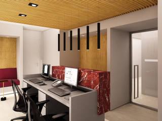Recepção: Clínicas  por AM arquitetura e interiores