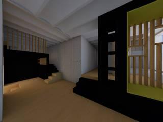 LOFT CARIO: Salon de style  par A2Ba Architecte