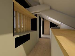 CHAMBRE EN COMBLES: Chambre de style  par A2Ba Architecte