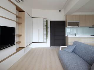 朝日:  客廳 by 樂沐室內設計有限公司