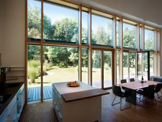 Livings de estilo moderno por Kneer GmbH, Fenster und Türen