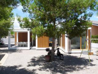 Casas de estilo  de CALMM ARCHITECTURE, Minimalista Madera Acabado en madera