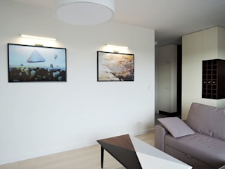 Livings modernos: Ideas, imágenes y decoración de Projektowanie Wnętrz Agnieszka Noworzyń Moderno