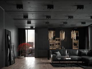 Урбанистичный лофт: Гостиная в . Автор – ANNA KUKHARUK interior designer,