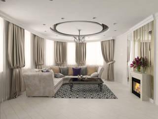Современная квартира с элементами ар-деко: Гостиная в . Автор – ANNA KUKHARUK interior designer