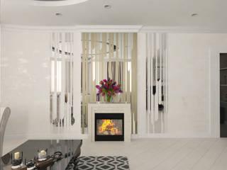 Современная квартира с элементами ар-деко: Гостиная в . Автор – ANNA KUKHARUK interior designer,