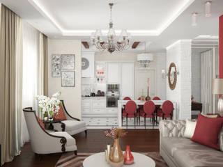 Дизайн интерьера частного дома: Гостиная в . Автор – ANNA KUKHARUK interior designer