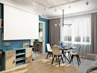 CO:interior Eclectic style living room Blue