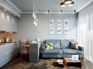 CO:interior Eclectic style living room Grey