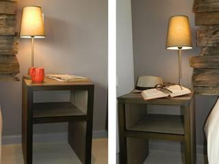 DDO Diseño Rustikale Schlafzimmer Holz Grau