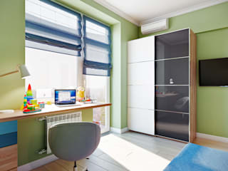 CO:interior Eclectic style nursery/kids room Green