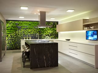 JACARANDAS HOUSE Nowoczesna kuchnia od Hernandez Silva Arquitectos Nowoczesny