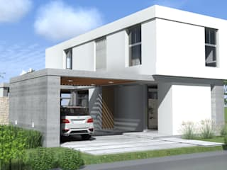 Casas de estilo moderno de Arquitectura Bur Zurita Moderno