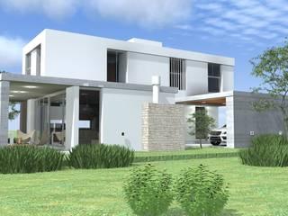 Fachada lateral Casas modernas: Ideas, imágenes y decoración de Arquitectura Bur Zurita Moderno