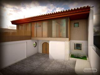 casa H_vista exterior: Casas unifamilares  por Emprofeira - empresa de projectos da Feira, Lda.
