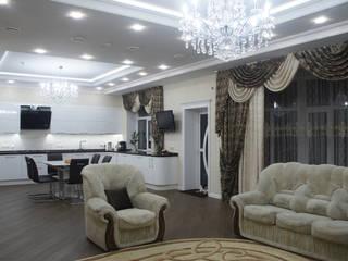 Классический интерьер зала кухни-гостиной. Кухня в классическом стиле от Москоу Дизайн Классический
