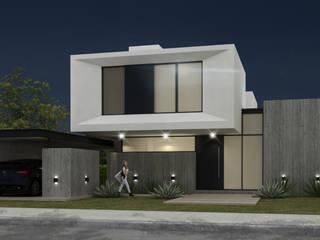 FACHADA PRINCIPAL: Casas unifamiliares de estilo  por JAMStudio