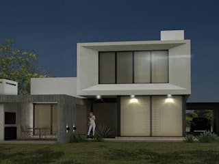 VISTAPOSTERIOR: Casas unifamiliares de estilo  por JAMStudio