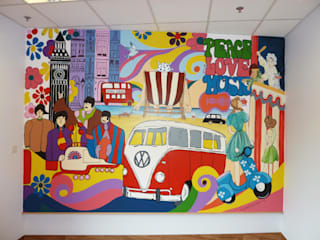 NHS Penderfields Hospital Mural Eclectic style hospitals by Joanna Perry Murals Eclectic